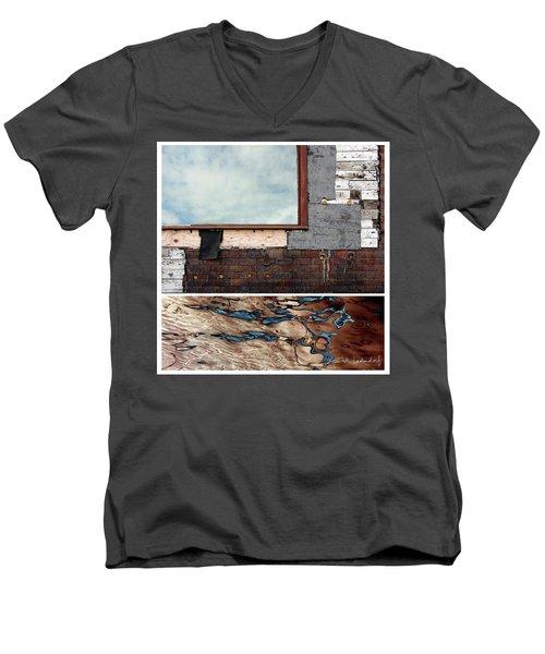 Juxtae #94 Men's V-Neck T-Shirt by Joan Ladendorf
