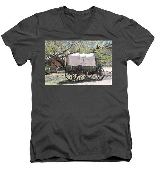 K L Bar Wagon Men's V-Neck T-Shirt