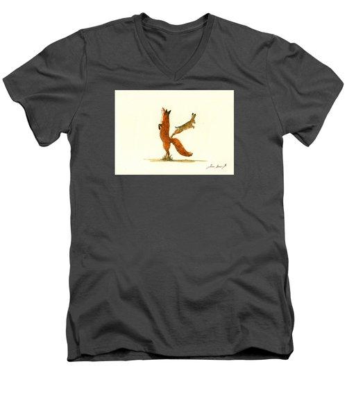 K Letter Woodland Alphabet Men's V-Neck T-Shirt by Juan  Bosco