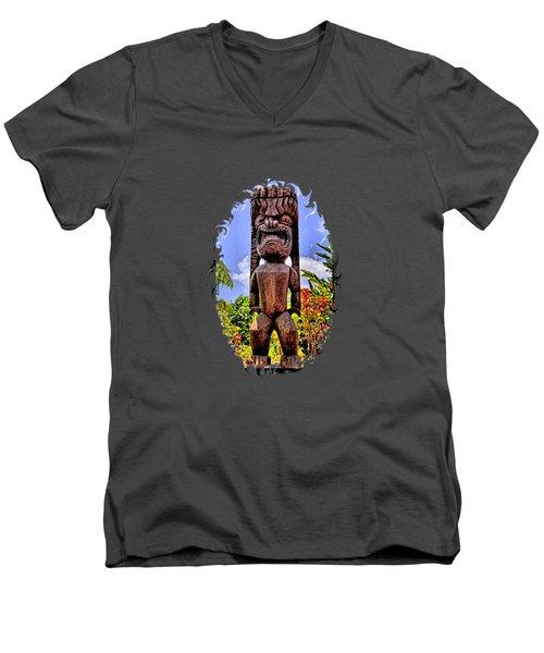 Kaanapali Tiki Men's V-Neck T-Shirt