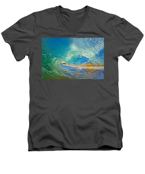 Kaanapali Wave Men's V-Neck T-Shirt by James Roemmling