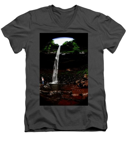 Kaaterskill Falls Men's V-Neck T-Shirt