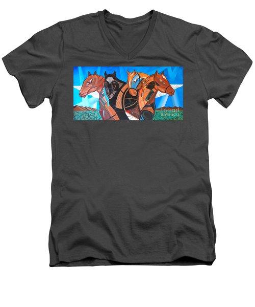 Kaleden Spirit Horse Men's V-Neck T-Shirt