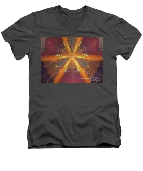 Kaleidoscope Mirror Effect M7 Men's V-Neck T-Shirt
