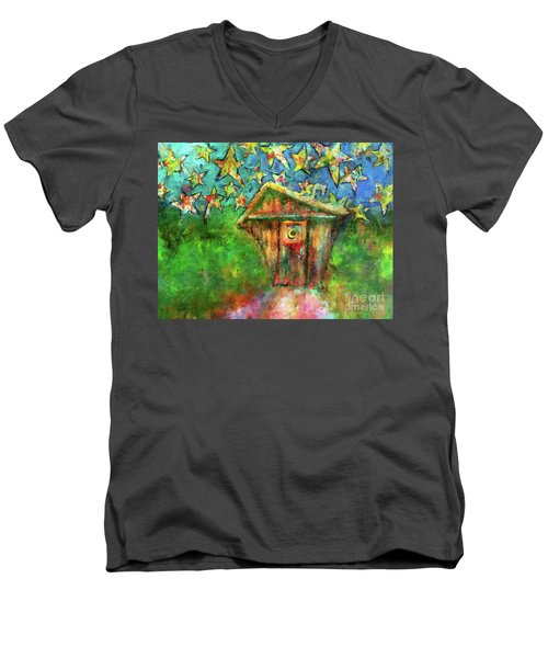 Kaleidoscope Skies Men's V-Neck T-Shirt