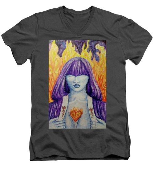 Kali's Daughter Men's V-Neck T-Shirt