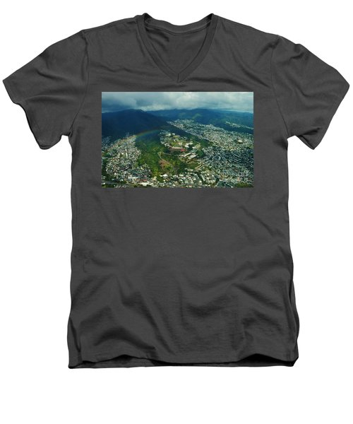 Kamehameha School Kapalama Men's V-Neck T-Shirt by Craig Wood