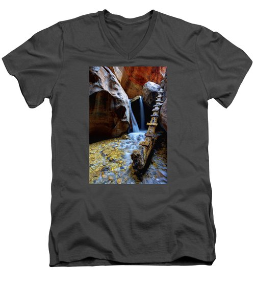 Kanarra Men's V-Neck T-Shirt by Chad Dutson