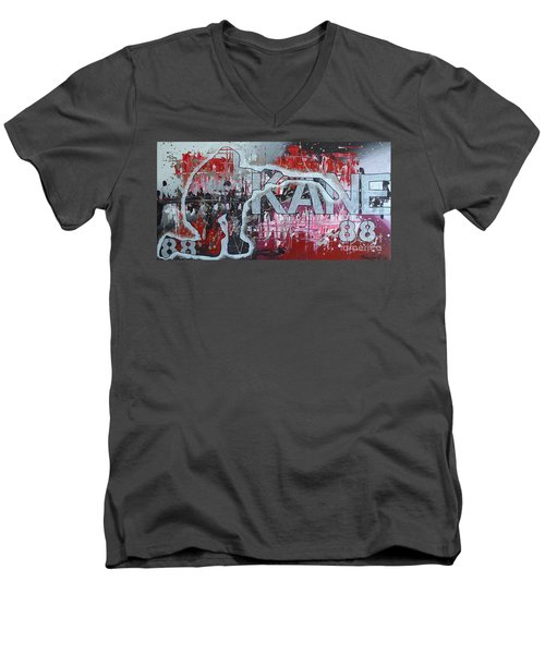 Men's V-Neck T-Shirt featuring the painting Kaner 88 by Melissa Goodrich