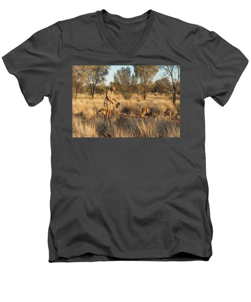 Kangaroo Sanctuary Men's V-Neck T-Shirt