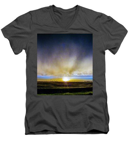 Kansas Storm Chase Bust Day 005 Men's V-Neck T-Shirt