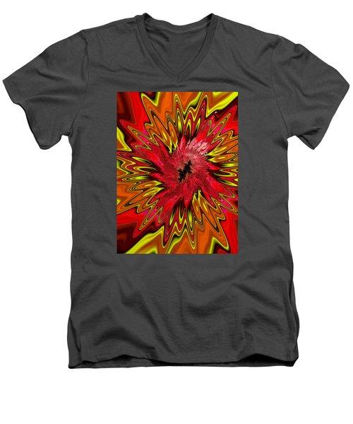Men's V-Neck T-Shirt featuring the photograph Kapowwie by Ronda Broatch