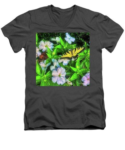 Karen's Garden Men's V-Neck T-Shirt by Toma Caul