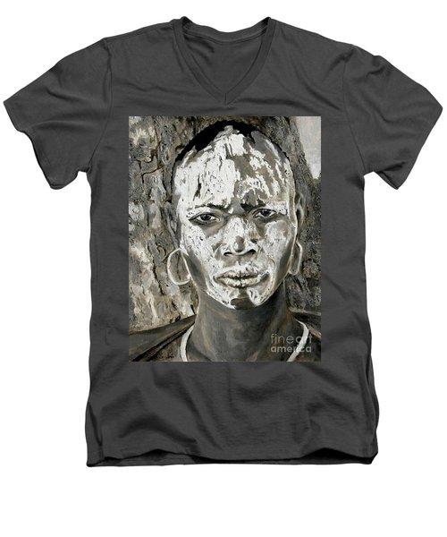 Karo Man Men's V-Neck T-Shirt