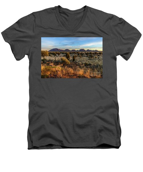 Men's V-Neck T-Shirt featuring the photograph Kata Tjuta 02 by Werner Padarin