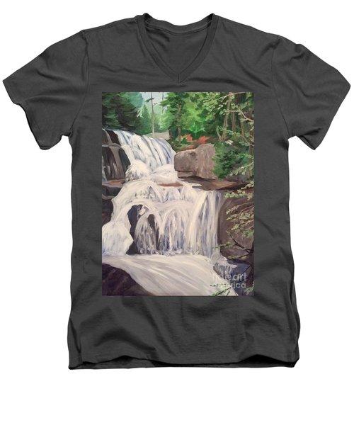 Katahdin Falls Men's V-Neck T-Shirt