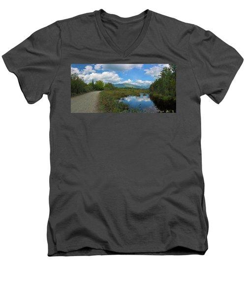 Katahdin In The Clouds Men's V-Neck T-Shirt