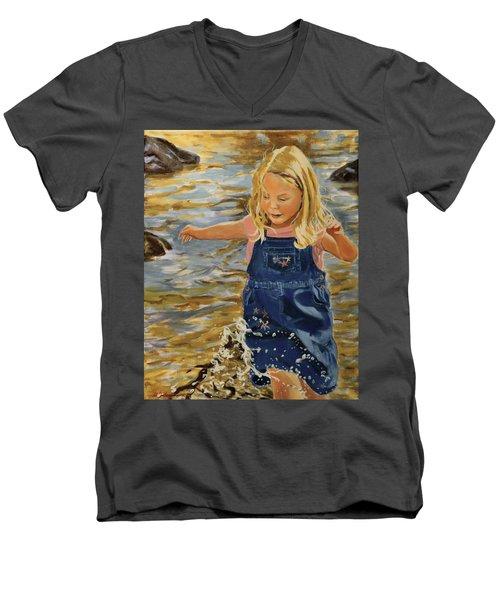 Kate Splashing Men's V-Neck T-Shirt