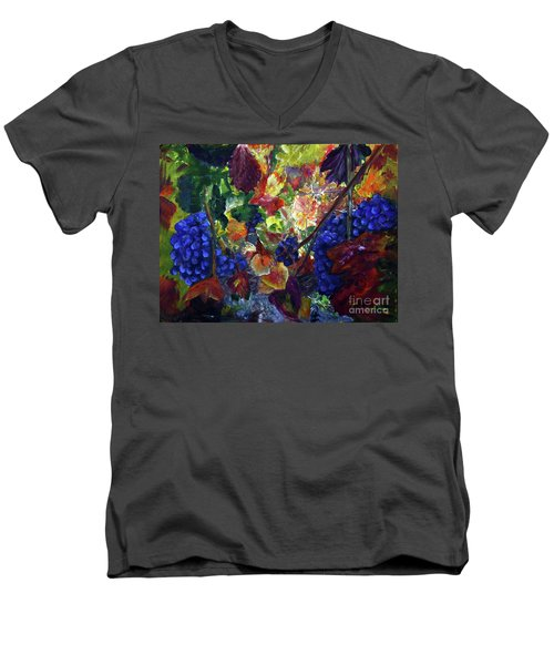 Katy's Grapes Men's V-Neck T-Shirt