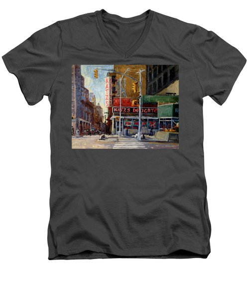 Katz's Delicatessen, New York City Men's V-Neck T-Shirt