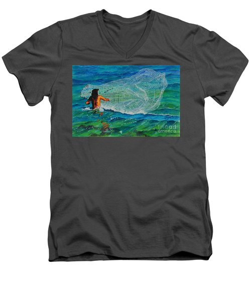 Kauai Fisherman Men's V-Neck T-Shirt