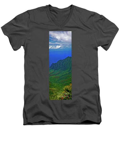 Kauai  Napali Coast State Wilderness Park Men's V-Neck T-Shirt