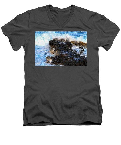 Kauai Rock Splash Men's V-Neck T-Shirt