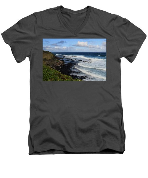 Kauai Shore 1 Men's V-Neck T-Shirt