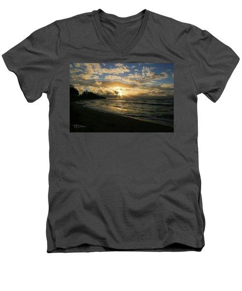 Kauai Sunrise Men's V-Neck T-Shirt