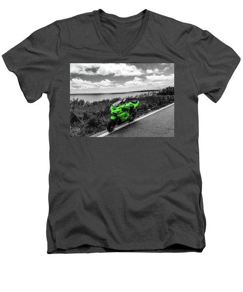 Kawasaki Ninja Zx-6r 2 Men's V-Neck T-Shirt