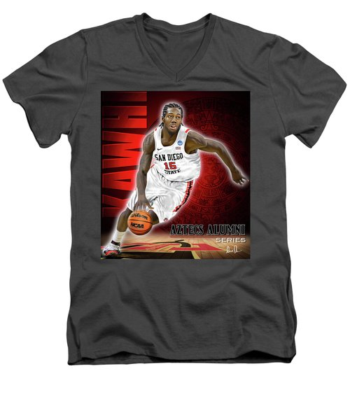 Men's V-Neck T-Shirt featuring the photograph Kawhi by Don Olea