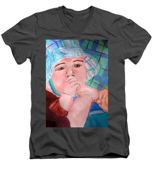 Kaylie Men's V-Neck T-Shirt by Josie Weir