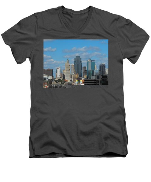 Kc Is Booming Men's V-Neck T-Shirt