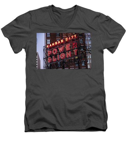 Kc Power And Light Men's V-Neck T-Shirt
