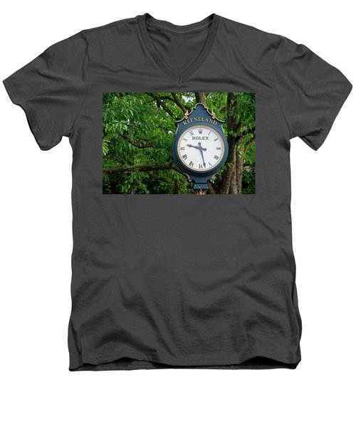 Keeneland Clock Men's V-Neck T-Shirt