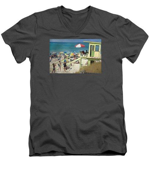 Keep Back 15 Ft Men's V-Neck T-Shirt