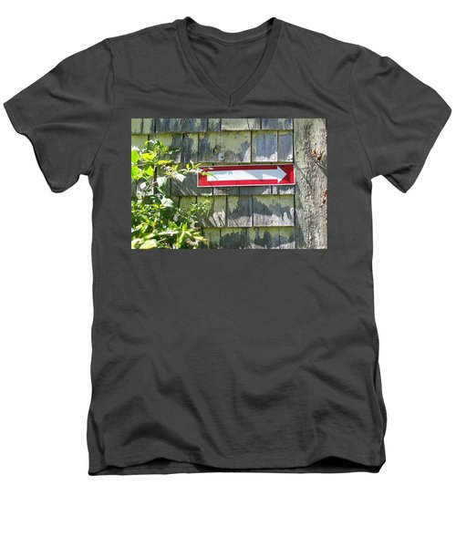 Men's V-Neck T-Shirt featuring the digital art Keep To The Right by Barbara S Nickerson