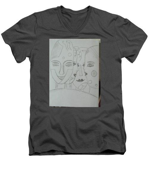 Keeper Of Secrets Men's V-Neck T-Shirt by Sharyn Winters