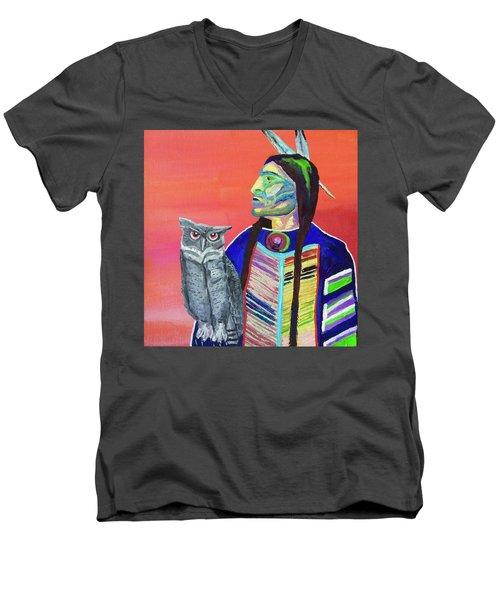 Keeper Of The Night Men's V-Neck T-Shirt by Brenda Pressnall