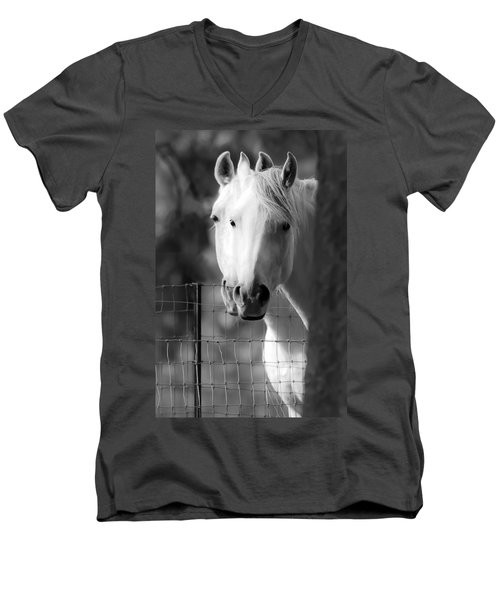 Keeping Their Eyes On Us Men's V-Neck T-Shirt by Wes and Dotty Weber