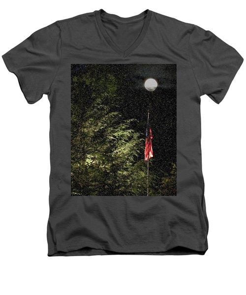 Keeping America  Illuminated.  Men's V-Neck T-Shirt