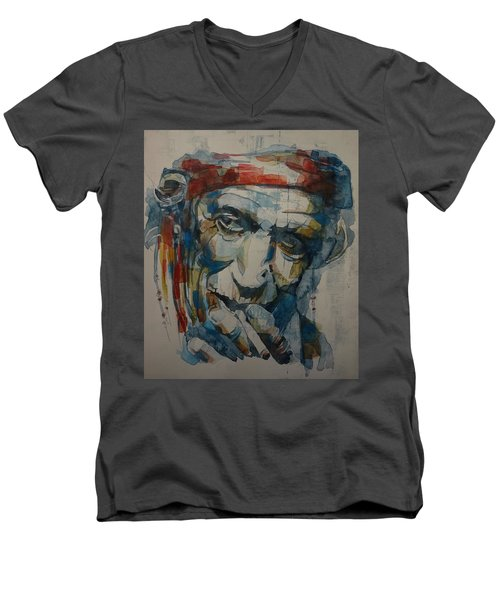Keith Richards Art Men's V-Neck T-Shirt
