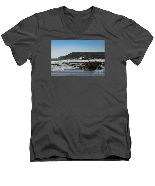 Men's V-Neck T-Shirt featuring the photograph Kennack Sands by Brian Roscorla