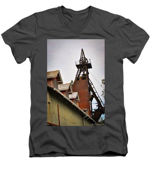 Kennedy Mine Headframe Men's V-Neck T-Shirt