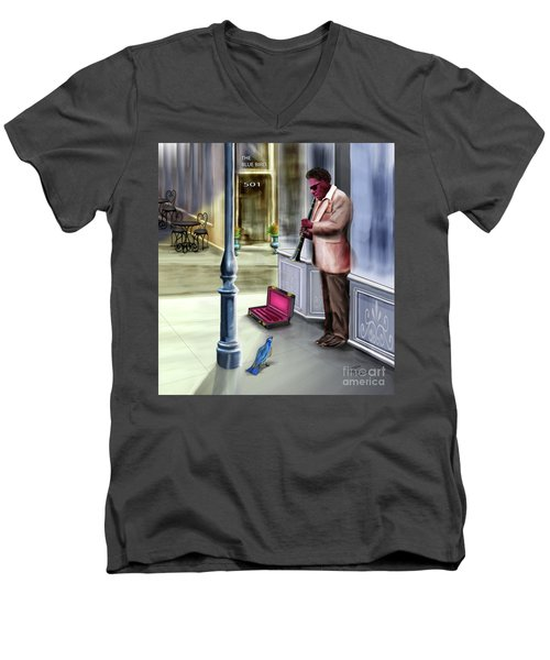 Kentucky Blue Bird Men's V-Neck T-Shirt