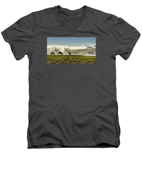 Kentucky Bluegrass Morning #1 Men's V-Neck T-Shirt