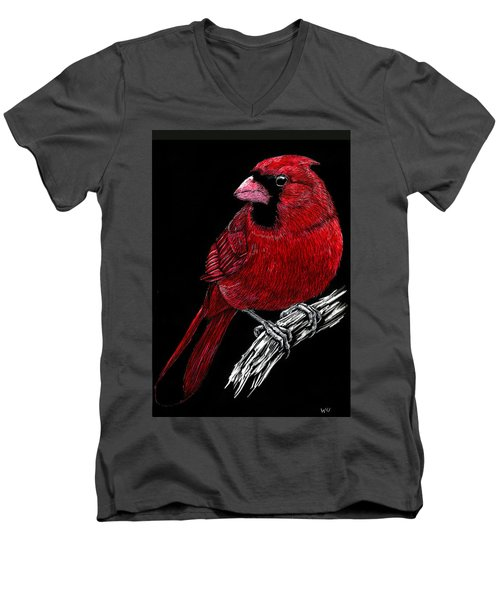 Kentucky Cardinal Men's V-Neck T-Shirt
