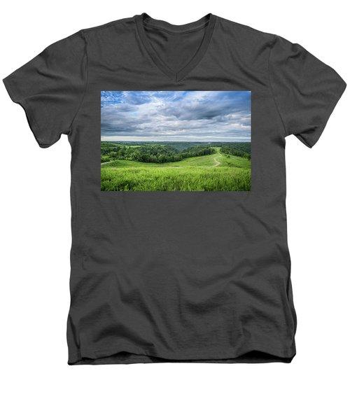 Kentucky Hills And Clouds Men's V-Neck T-Shirt