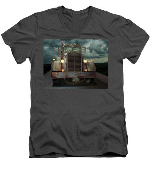 Kenworth Old Workhorse Men's V-Neck T-Shirt by Stuart Swartz
