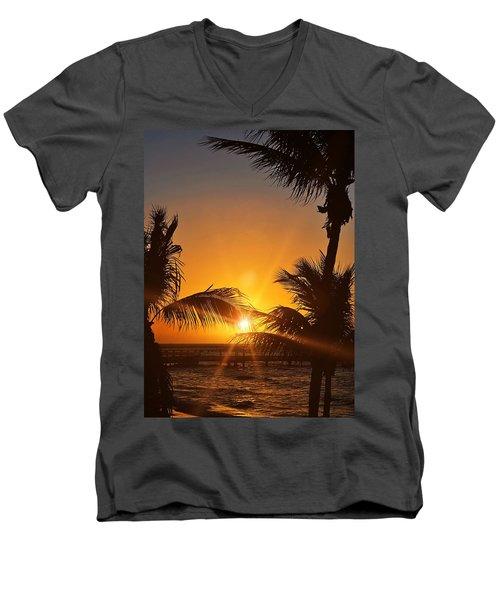 Key Art Men's V-Neck T-Shirt by JAMART Photography